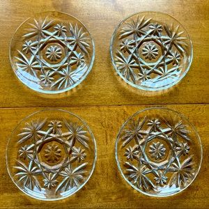 Vintage Anchor Hocking Glass Coasters